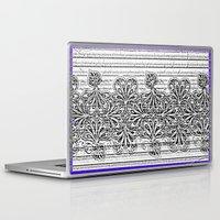 newspaper Laptop & iPad Skins featuring Newspaper Stripe by Vikki Salmela