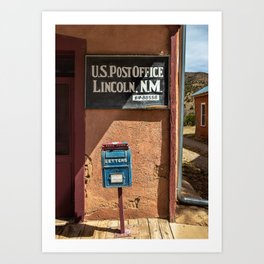 Post Office Lincoln NM Art Print