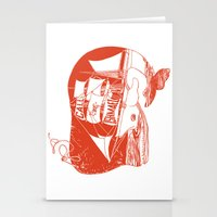moby dick Stationery Cards featuring Moby Dick by Paul McCreery