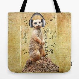 Jammin' Meerkat Tote Bag