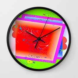 Chaotic loveletters Wall Clock