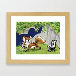 Spunky Little Skunk Framed Art Print