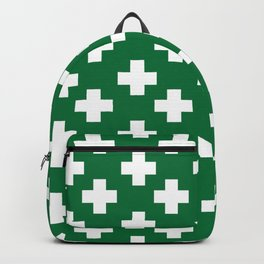 Plus Signs (White & Olive Pattern) Backpack