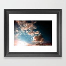 Heaven sky Framed Art Print