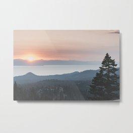 Mountain Top View Metal Print