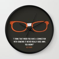 "alex vause Wall Clocks featuring ""when you have a connection with someone it never goes away"" Alex Vause OITNB by :: Fan art ::"