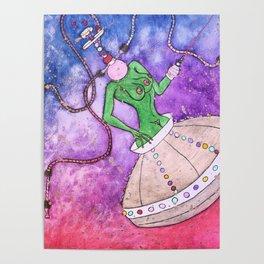 Hookah Head | The Extraterrestrial Poster