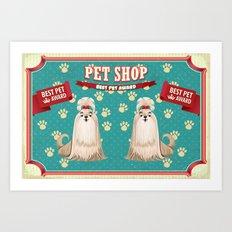 Retro Best Pet Award Art Print