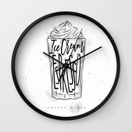 Coffee glace cup Wall Clock