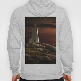 Lighthouse at Sunset in the Peggy's Cove Hoody
