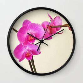 Orchid 2 Wall Clock