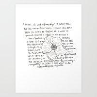Living Simply Art Print