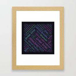 Dog breeds word art Framed Art Print