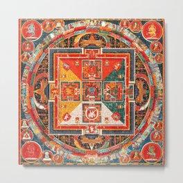Hevajra Tantric Buddhist Deity Mandala Metal Print