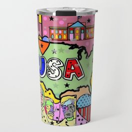 USA Popart 2018 by Nico Bielow Travel Mug
