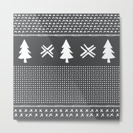 Evergreen in Gray Metal Print