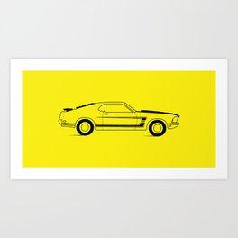 Mustang Boss Art Print