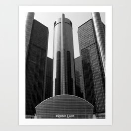 Looking Up at the Ren Cen Art Print