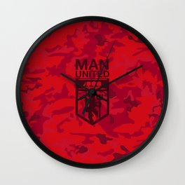 Manchester United Pattern Wall Clock