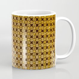 Gold and wood carving pattern Coffee Mug