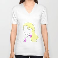 luna lovegood V-neck T-shirts featuring Luna Portrait by Eva van Gorp