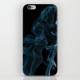 Waves navy blue twisted smoke iPhone Skin