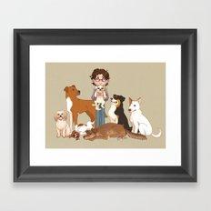 Must Love Dogs Framed Art Print