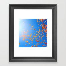 Clemson balloons Framed Art Print
