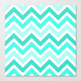 Shades of Turquoise  Canvas Print