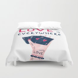 Love is everywhere Duvet Cover
