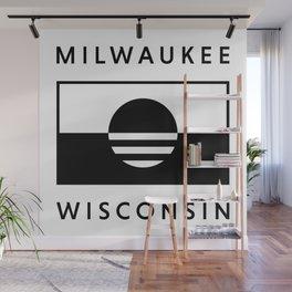 Milwaukee Wisconsin - White - People's Flag of Milwaukee Wall Mural