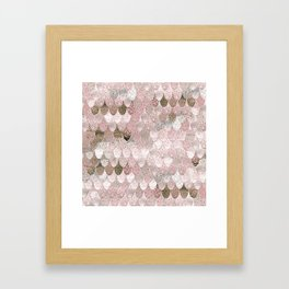 SUMMER MERMAID NUDE ROSEGOLD by Monika Strigel Framed Art Print