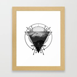Wiccan Earth Element Symbol Pagan Witchcraft Triangle Framed Art Print