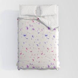 Dandelion Seeds Bisexual Pride (white background) Comforters