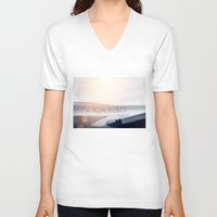plane V-neck T-shirts featuring Cargo Plane by Anton Watts