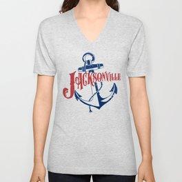 Jacksonville Anchor Unisex V-Neck