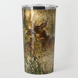 Whitetail Deer - A Golden Moment Travel Mug