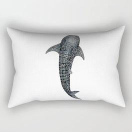 Whale shark Rhincodon typus for divers, shark lovers and fishermen Rectangular Pillow