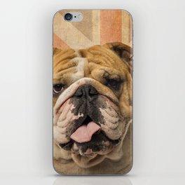 English Bulldog, Great Britain flag ! iPhone Skin