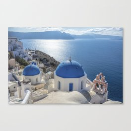 Santorini Island with churches and sea view in Greece Canvas Print