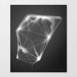Water Diamond Canvas Print
