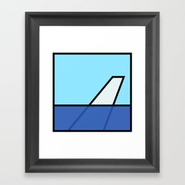 Lonely Travels - 787 Framed Art Print