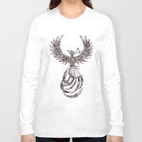 steam punk Long Sleeve T-shirts featuring Steam Punk Pheonix by Paviash