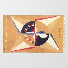 Vintage poster - Festival of Britain Rug