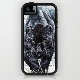 Panther watercolor painting predator animals puma jaguar wild & fre iPhone Case