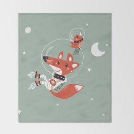 Space Fox Throw Blanket
