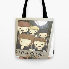 One Direction Story of My Life Cartoon Tote Bag