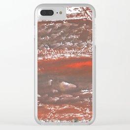 Orange Gray vague watercolor Clear iPhone Case