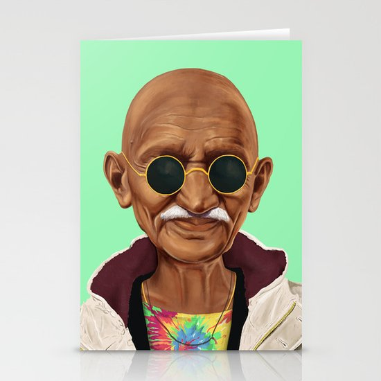 Hipstory -  mahatma gandhi Stationery Cards