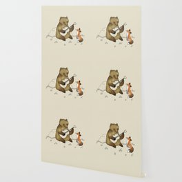 Bear & Fox Wallpaper